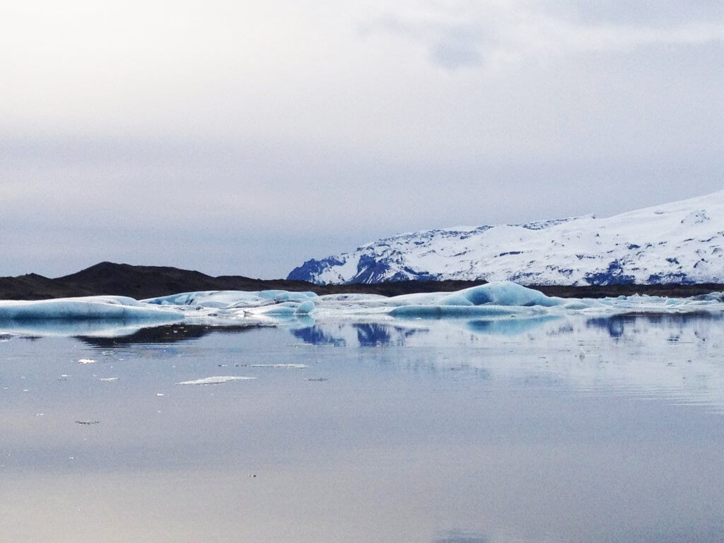 Glacial Lagoon while in Iceland with Kids.