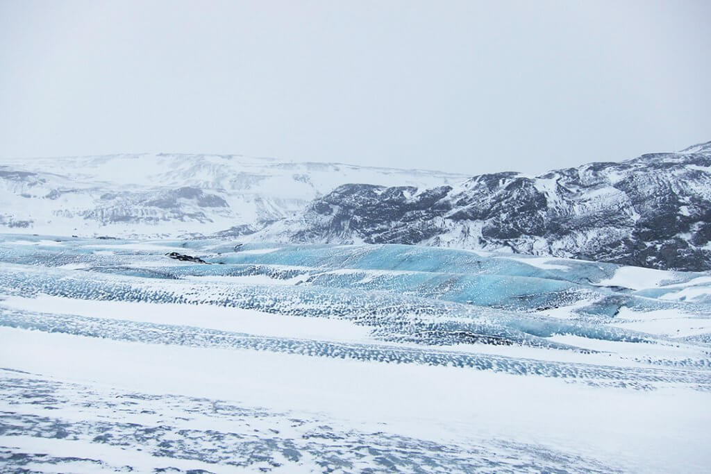 The Solheimajokull glacier while in Iceland with kids