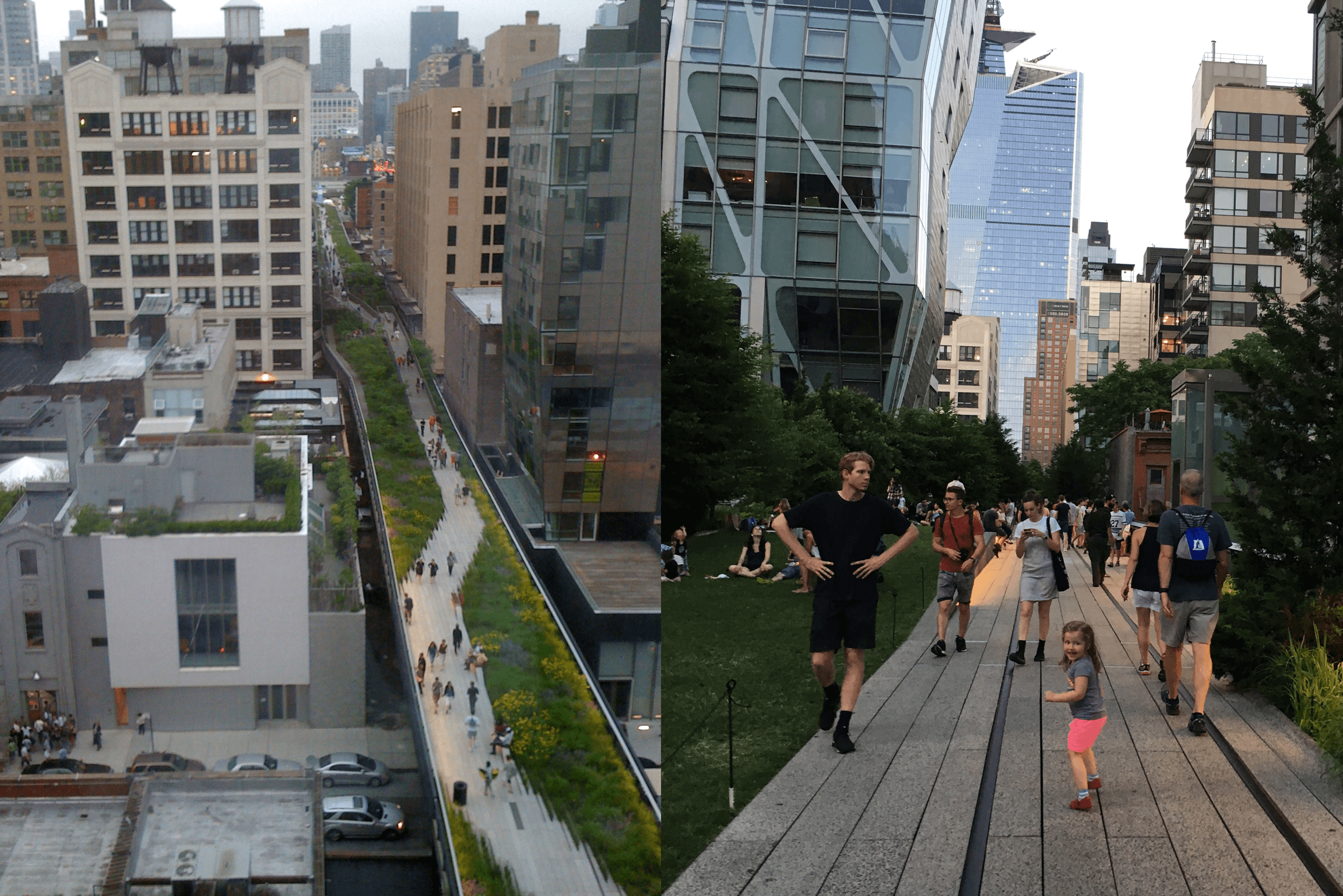 The High Line, as seen from above, New York City