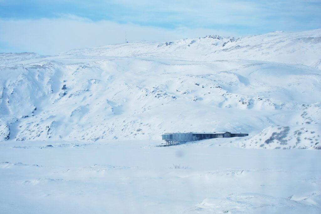 Snow vistas around the Ion Hotel, Iceland.