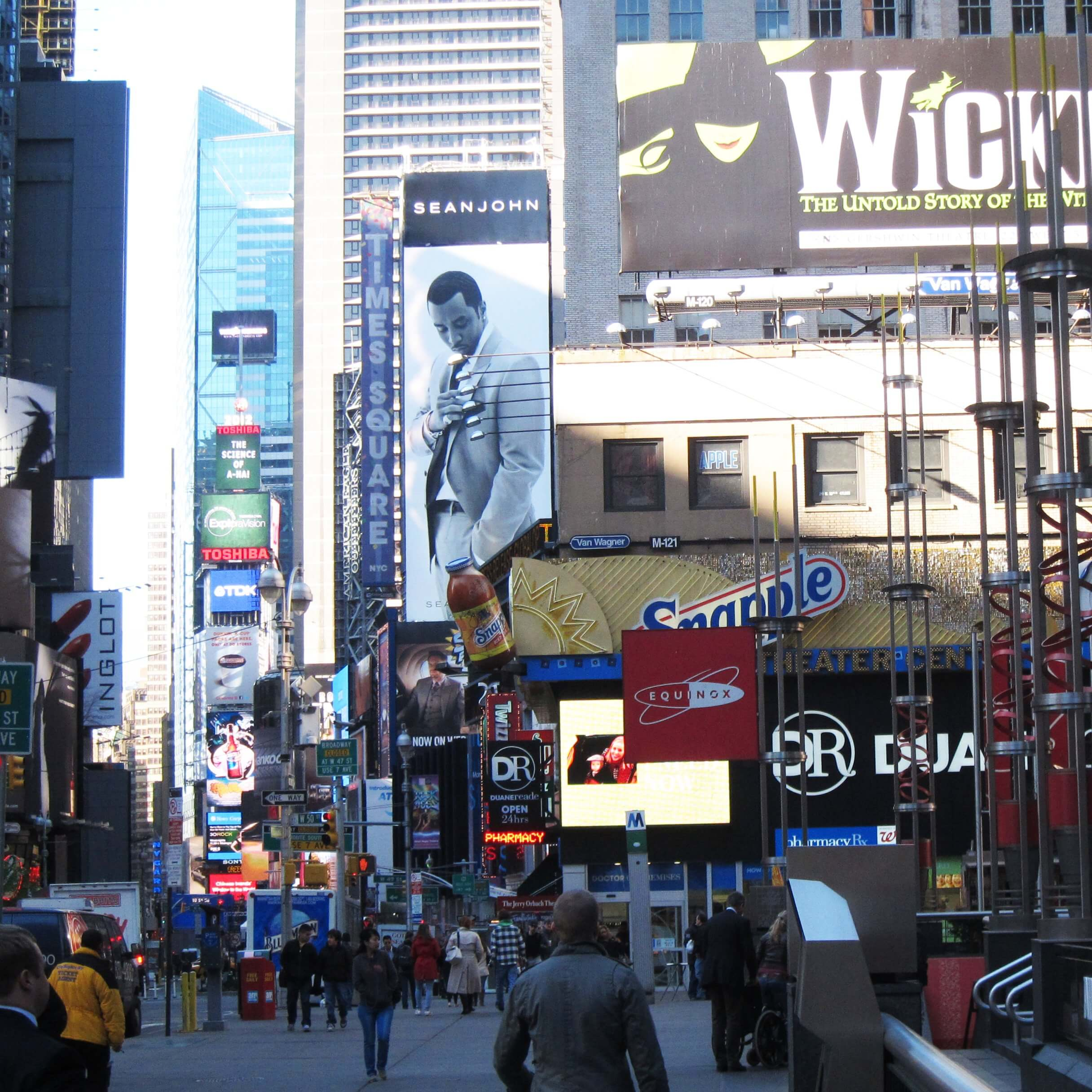 Times Square billboards in New York City